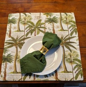 Pottery Barn set of 4 placemats square Tropical